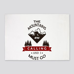 The Mountains Are Calling 5'x7'Area Rug