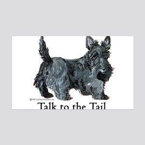 Scottish Terrier Attitude 35x21 Wall Decal