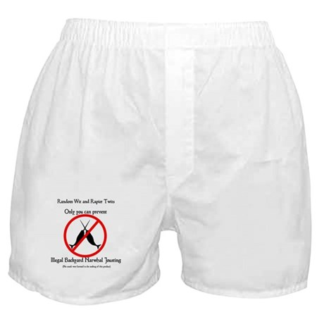 Narwhal Jousting Boxer Shorts