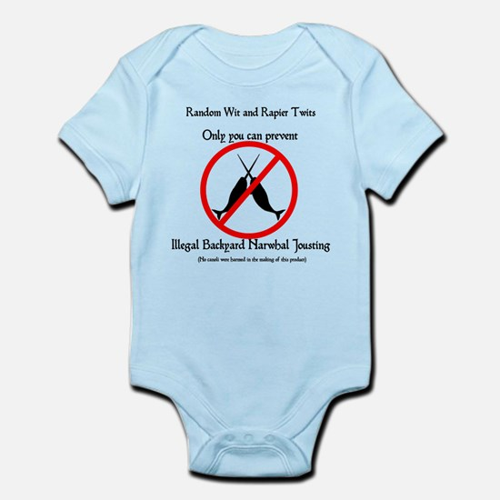 Narwhal Jousting Infant Bodysuit