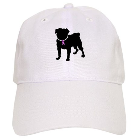 Pug Breast Cancer Support Cap