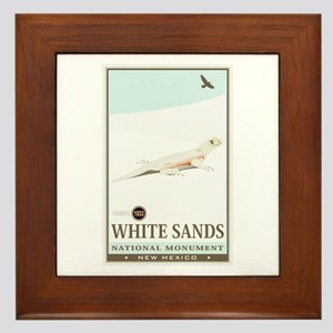 National Parks - White Sands 2 Framed Tile