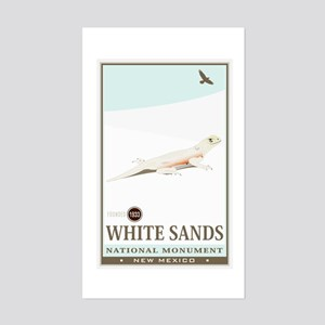 National Parks - White Sands 2 Sticker (Rectangle)