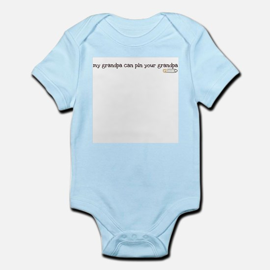 my grandpa can pin your grand Infant Bodysuit
