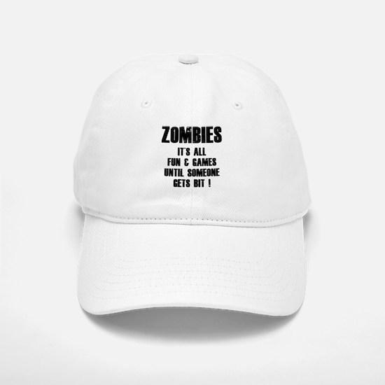 Zombies Fun and Games Baseball Baseball Cap