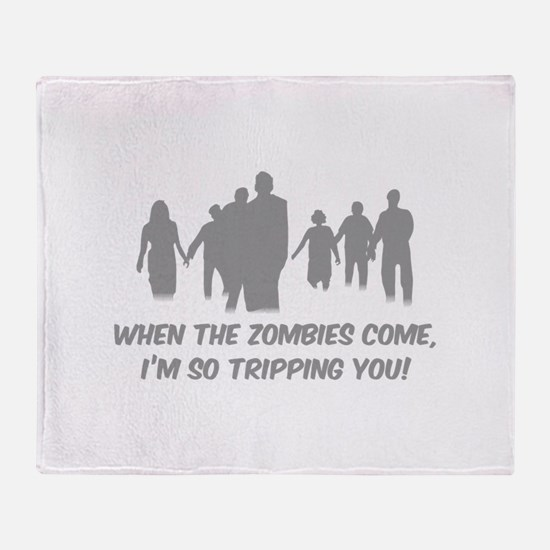 Zombies Quote Throw Blanket