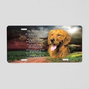 """""""Why God Made Dogs"""" Golden Retriever Aluminum Lice"""
