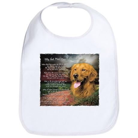 """""""Why God Made Dogs"""" Golden Retriever Bib"""