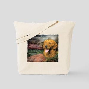 """""""Why God Made Dogs"""" Golden Retriever Tote Bag"""
