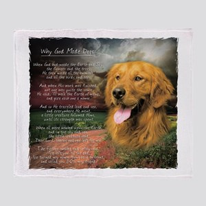 """Why God Made Dogs"" Golden Retriever Stadium Blan"