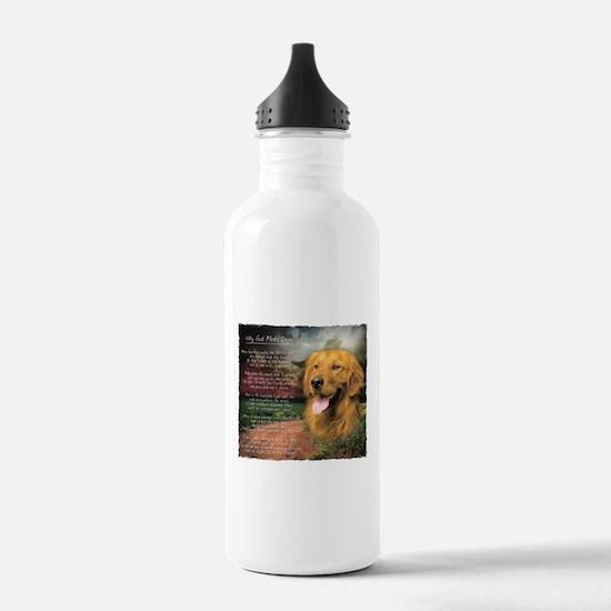 """Why God Made Dogs"" Golden Retriever Water Bottle"