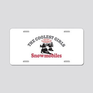 Coolest Girls Snowmobile Aluminum License Plate