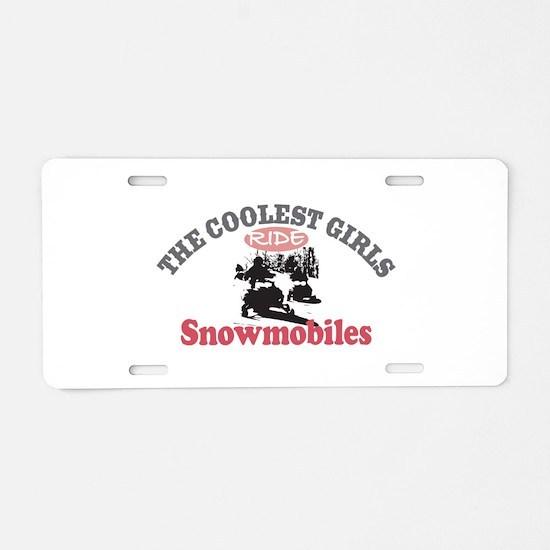 Coolest Girls Snowmobile Aluminum License Plate