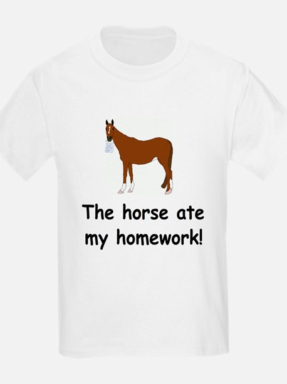 The Horse ate my homework T-Shirt