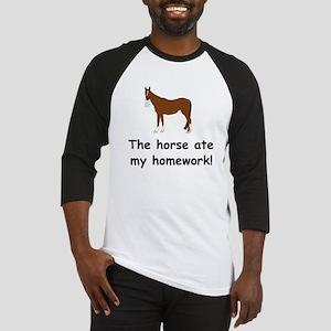 The Horse ate my homework Baseball Jersey