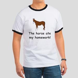 The Horse ate my homework Ringer T