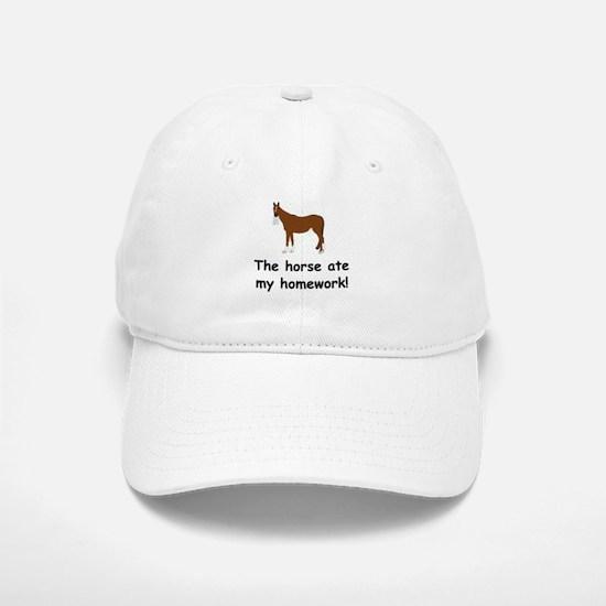 The Horse ate my homework Baseball Baseball Cap