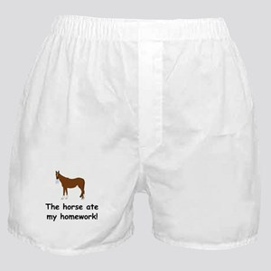 The Horse ate my homework Boxer Shorts