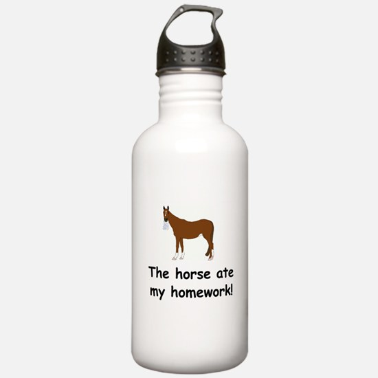 The Horse ate my homework Water Bottle