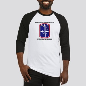 HHC - 172 Infantry Brigade with text Baseball Jers
