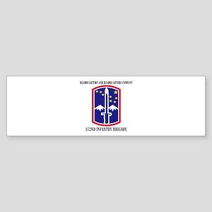 HHC - 172 Infantry Brigade with text Sticker (Bump