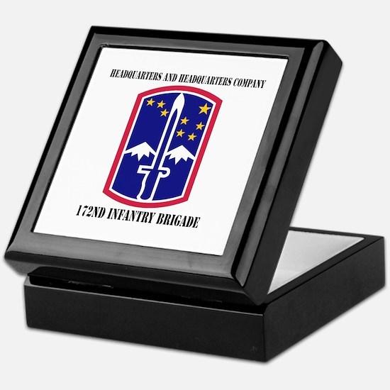 HHC - 172 Infantry Brigade with text Keepsake Box