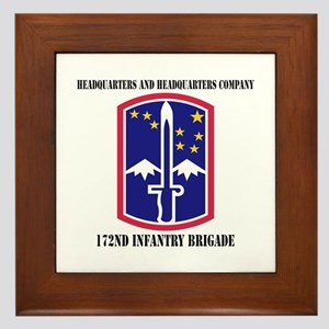 HHC - 172 Infantry Brigade with text Framed Tile
