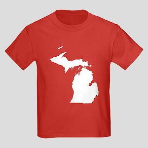 Michigan Map Kids Dark T-Shirt