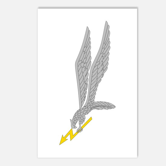 GROM Eagle - Silver - Gold Postcards (Package of 8