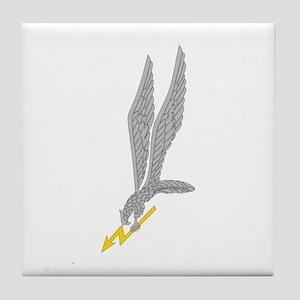 GROM Eagle - Silver - Gold Tile Coaster