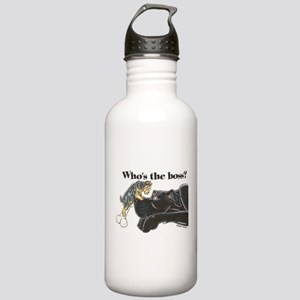 NB/Yorki Who's The Boss? Stainless Water Bottle 1.
