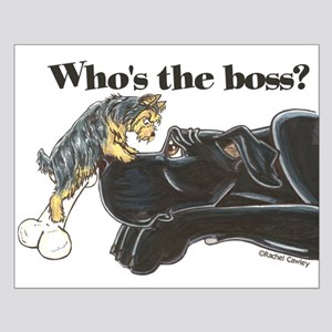 NB/Yorki Who's The Boss? Small Poster
