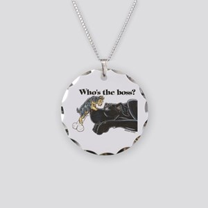 NB/Yorki Who's The Boss? Necklace Circle Charm