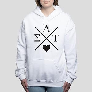 Sigma Delta Tau Cross Women's Hooded Sweatshirt