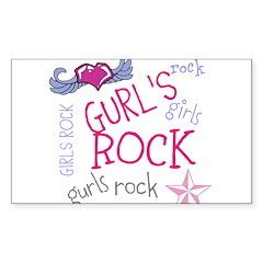 OYOOS Girls Rock design Sticker (Rectangle)