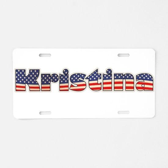 American Kristina Aluminum License Plate