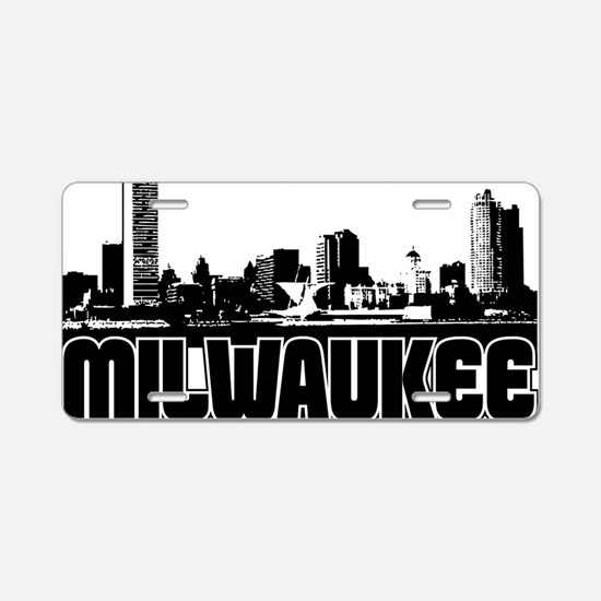 Milwaukee Skyline Aluminum License Plate