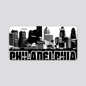 Philadelphia Skyline Aluminum License Plate