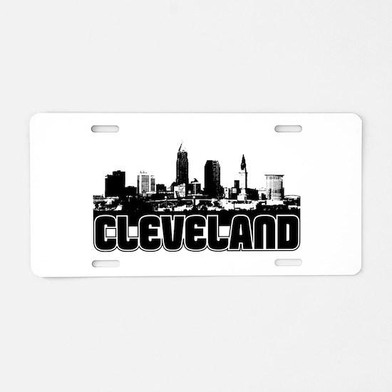 Cleveland Skyline Aluminum License Plate