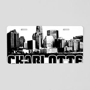 Charlotte Skyline Aluminum License Plate