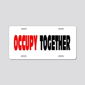 Occupy Together: Aluminum License Plate