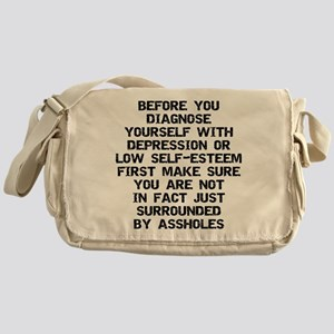 Surrounded by A-Holes Messenger Bag