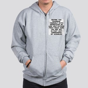 Surrounded by A-Holes Zip Hoodie