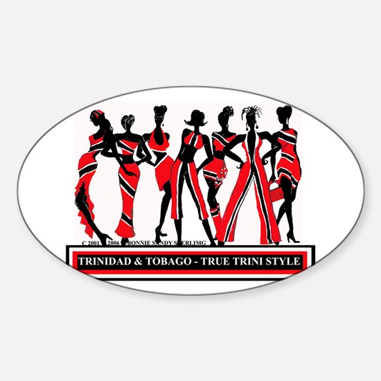 TRINI STYLE Oval Decal