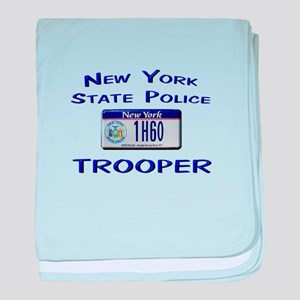New York State Police baby blanket