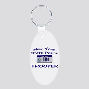 New York State Police Aluminum Oval Keychain
