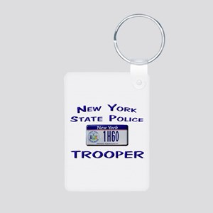 New York State Police Aluminum Photo Keychain