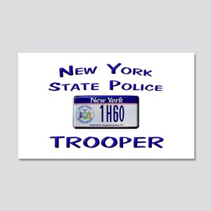 New York State Police 22x14 Wall Peel