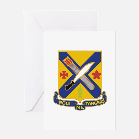 DUI - 1st Battalion, 2nd Infantry Greeting Card