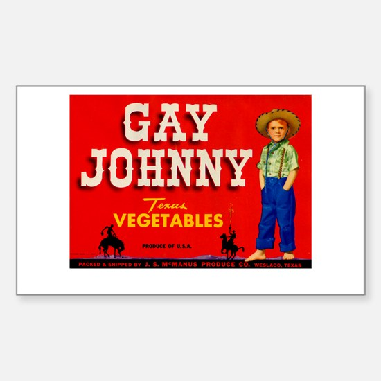 Vintage Gay Johnny Ad Sticker (Rectangle)